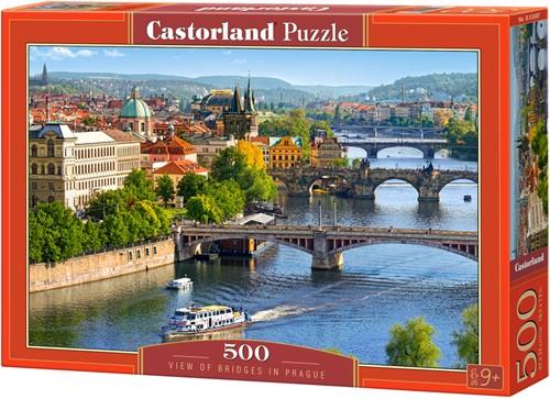 View of Bridges in Prague Puzzel (500 stukjes)