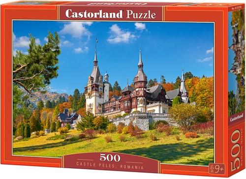 Castle Peles, Romania Puzzel (500 stukjes)