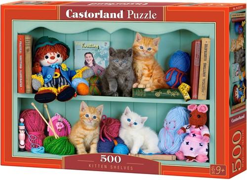 Kitten Shelves Puzzel (500 stukjes)