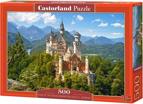 View of the Neuschwanstein Castle, Germany Puzzel (500 stukjes)