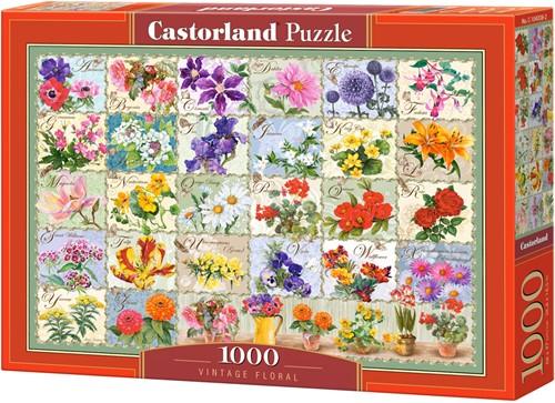 Vintage Floral Puzzel (1000 stukjes)