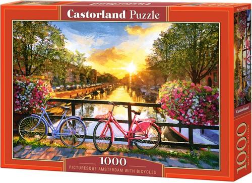 Picturesque Amsterdam with Bicycles Puzzel (1000 stukjes)