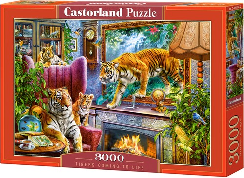 Tigers coming to Life Puzzel (3000 stukjes)