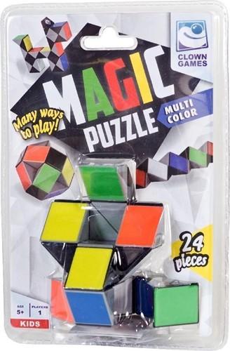 Clown Magic Puzzel - Multi Color (24 delig)