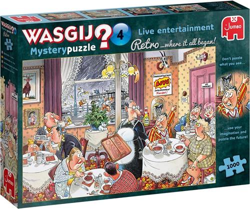 Wasgij Retro Mystery 4 - Live Entertainment! Puzzel (1000 stukjes)