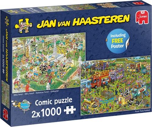 Jan van Haasteren - Food Festival Puzzel (2 x 1000 stukjes)