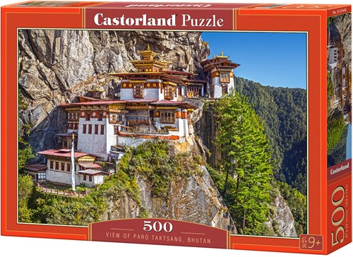 View of Paro Taktsang Bhutan Puzzel (500 stukjes)