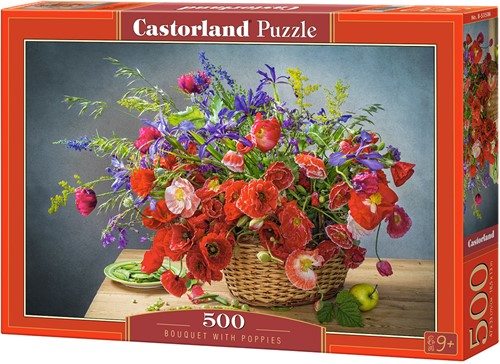 Bouquet with Poppies Puzzel (500 stukjes)