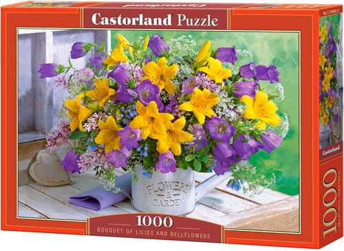 Bouquet of Lilies and Bellflowers Puzzel (1000 stukjes)