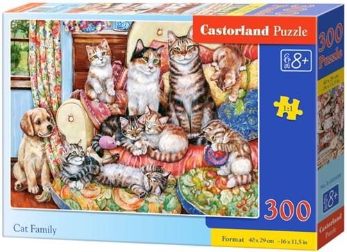 Cat family Puzzel (300 stukjes)