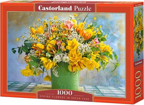 Spring Flowers in Green Vase Puzzel (1000 stukjes)
