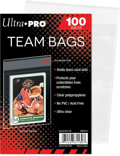 Card Sleeves Team Bags - Hersluitbaar