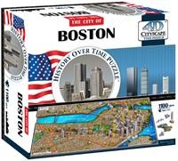 4D Cityscape - Boston 4D Puzzel (1100 stukjes) (Doos beschadigd)
