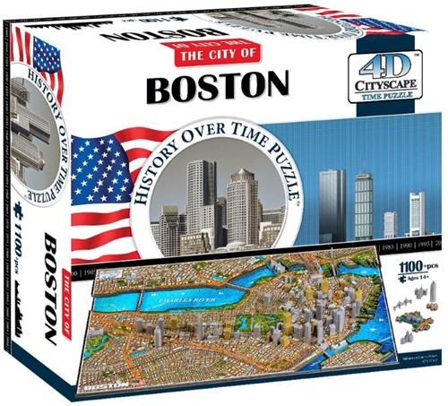 4D Cityscape - Boston 4D Puzzel (1100 stukjes)