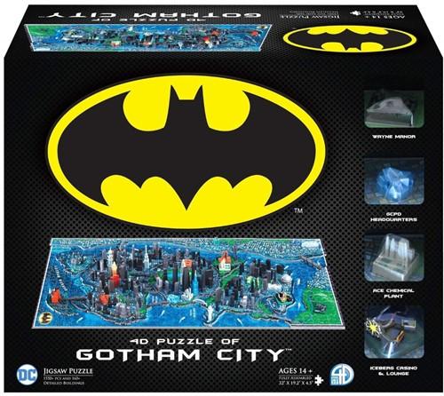 4D Cityscape - Batman Gotham City 3D Puzzel (1550 stukjes)
