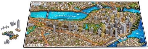 4D Cityscape - Boston 4D Puzzel (1100 stukjes) (Doos beschadigd)-2