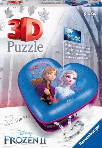 3D Puzzel - Frozen 2 Hartendoosje (54 stukjes)