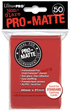 Sleeves Pro-Matte - Standaard Rood (66x91 mm)