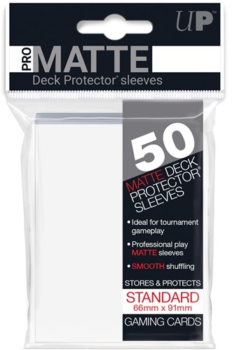 Sleeves Pro-Matte - Standaard Wit (66x91 mm)