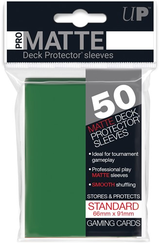 Sleeves Pro-Matte - Standaard Groen (66x91 mm)