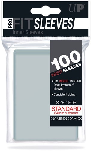 Sleeves Pro-Fit - Standaard Clear (64x89 mm)