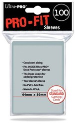 Sleeves Pro-Fit Clear Standard (64x89mm)