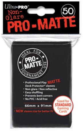 Sleeves Pro-Matte - Standaard Zwart (66x91 mm)