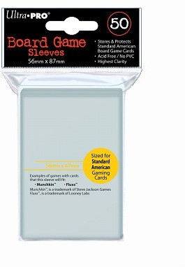 Board Game Sleeves - Standard American (56x87 mm)