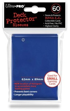Sleeves - Small Blauw (62x89 mm)