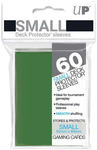 Sleeves - Small Groen (62x89 mm)