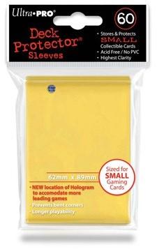 Sleeves - Small Geel (62x89 mm)