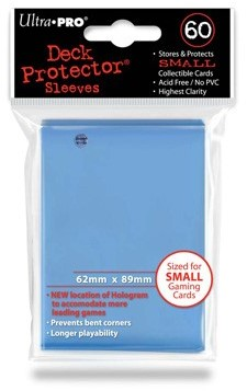 Sleeves - Small Lichtblauw (62x89 mm)