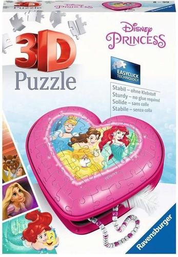 3D Puzzel - Disney Princess Hartendoosje (54 stukjes)