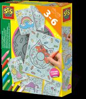 SES - Glitterkaarten Inkleuren