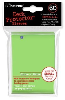 Sleeves - Small Lime Groen (62x89 mm)