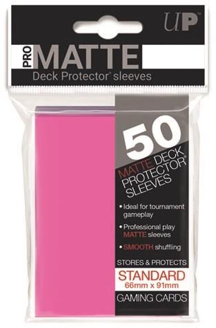 Sleeves Pro-Matte - Standaard Fel Roze (66x91 mm)