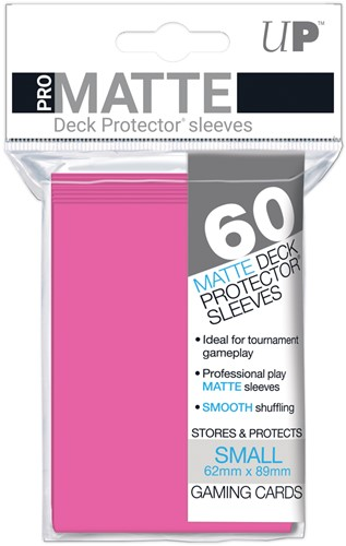 Sleeves Pro-Matte - Small Fel Roze (62x89 mm)