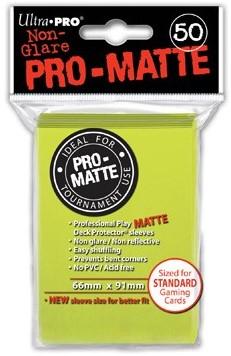 Sleeves Pro-Matte - Standaard Fel Geel (66x91 mm)