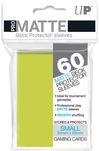 Sleeves Pro-Matte - Small Fel Geel (62x89 mm)