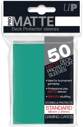 Sleeves Pro-Matte - Standaard Aqua (66x91 mm)