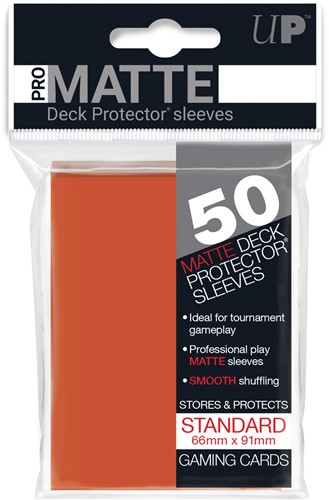 Sleeves Pro-Matte - Standaard Perzik Oranje (66x91 mm)
