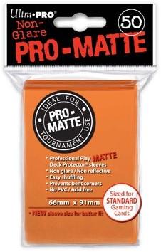 Sleeves Pro-Matte - Standaard Oranje (66x91 mm)
