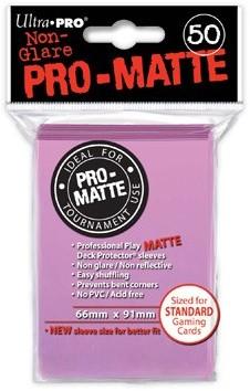 Sleeves Pro-Matte - Standaard Roze (66x91 mm)