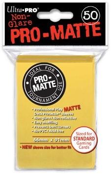 Sleeves Pro-Matte - Standaard Geel (66x91 mm)