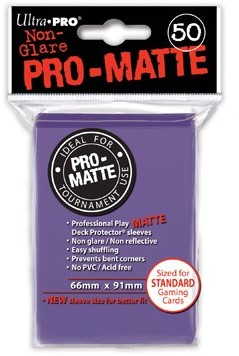 Sleeves Pro-Matte - Standaard Paars (66x91 mm)