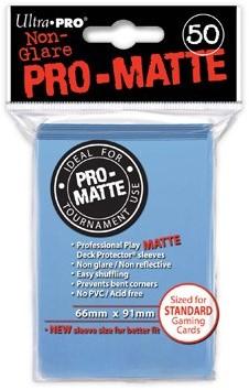 Sleeves Pro-Matte - Standaard Licht-Blauw (66x91 mm)
