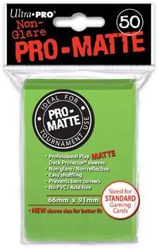 Sleeves Pro-Matte - Standaard Lime Groen (66x91 mm)