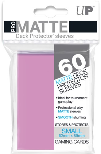 Sleeves Pro-Matte - Small Roze (62x89 mm)