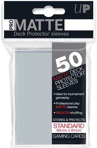 Sleeves Pro-Matte - Standaard Transparant (66x91 mm)