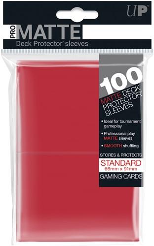 Sleeves Pro-Matte - Standaard Rood (100 stuks)